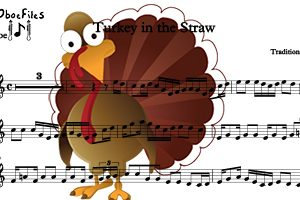 Turkey in the Straw for three oboes–Ob. trio (PDF Download)