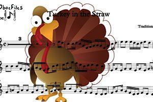 Turkey in the Straw for three oboes–Ob. trio (PDF Download)