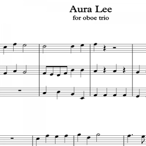 Aura Lee for oboe Trio