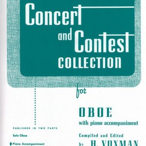 Voxman- Contest and Concert Collection (Oboe and Piano book together)