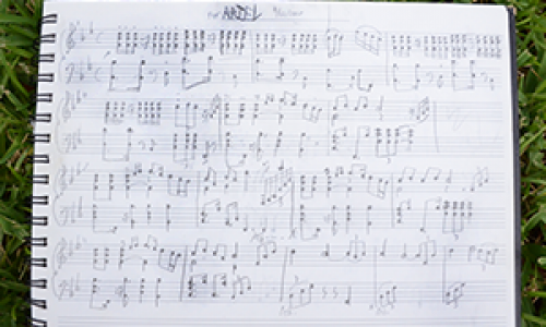 One of the first compositions I every wrote: A piece for my high school sweetheart... we broke up